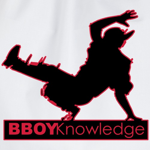 """Bboy knowledge Logo """"Multi color,make your choice"""" - Sac de sport léger"""