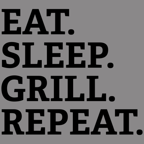 EAT SLEEP GRILL REPEAT - Turnbeutel