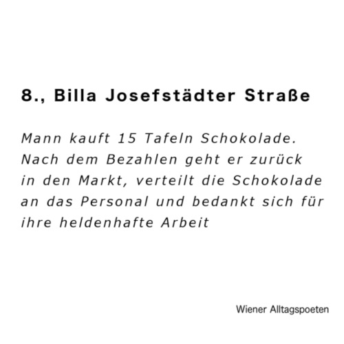 Wiener Alltagspoeten_Corona Schokolade - Turnbeutel
