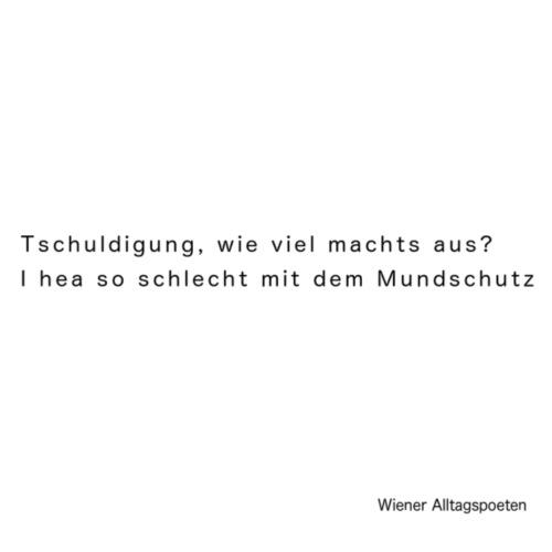 Wiener Alltagspoeten_ Ich hör so schlecht - Turnbeutel