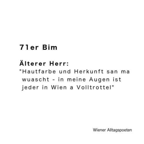 Wiener Alltagspoeten_Alle sind Trottel - Turnbeutel