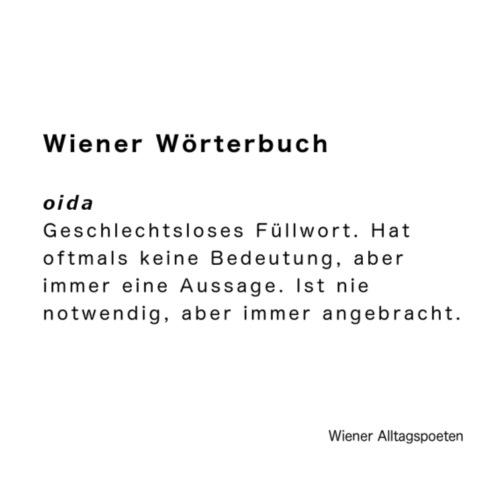 Wiener Alltagspoeten_Oida - Turnbeutel
