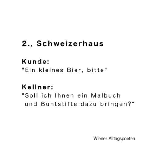 Wiener Alltagspoeten_Kleines Bier - Turnbeutel