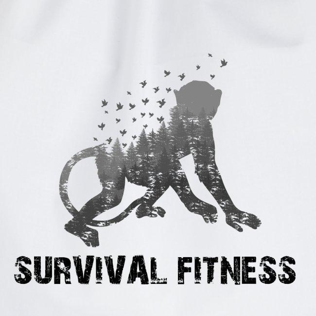 Survival Fitness Logo Schwarz