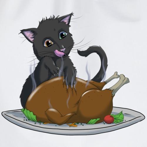 Hungriges Kätzchen - Turnbeutel