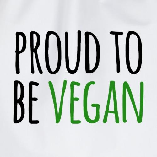 proud to be vegan - Turnbeutel