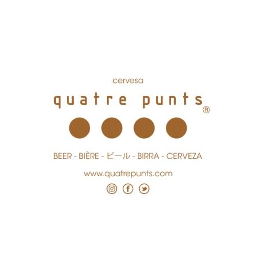 QUATRE PUNTS logo brown - Mochila saco