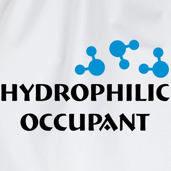 Hydrophilic Occupant (2 colour vector graphic)