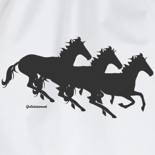 Schwarze Pferde - Turnbeutel