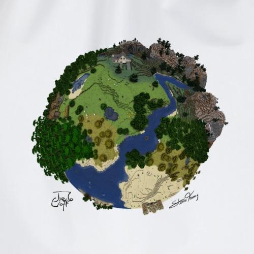 Block-Planet mit Unterschrift - Turnbeutel