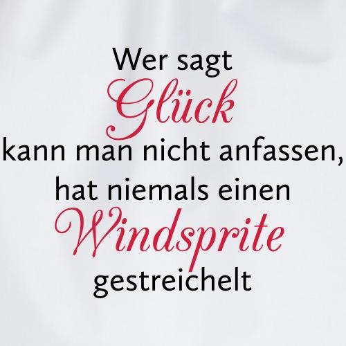 Hunde Spruch: Windsprite Glück - Turnbeutel
