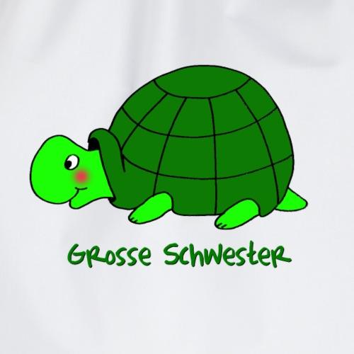 Grosse Schwester Liebevolles Motiv Schildkröte - Turnbeutel