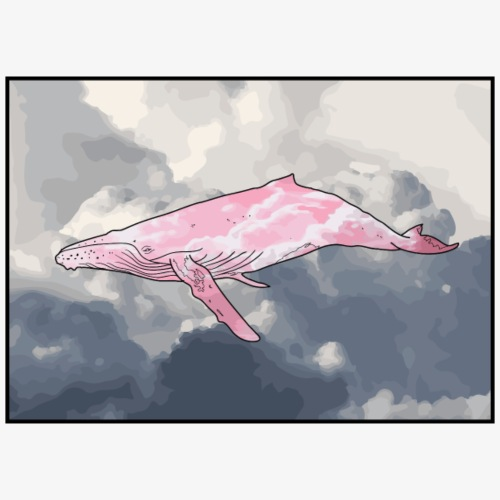 Whale in the Clouds - Drawstring Bag