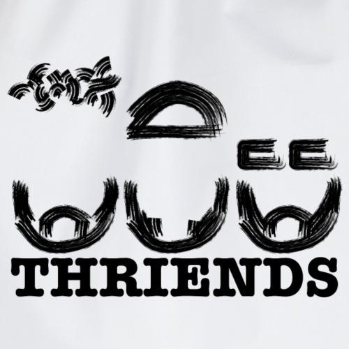 Thriends logo - Drawstring Bag