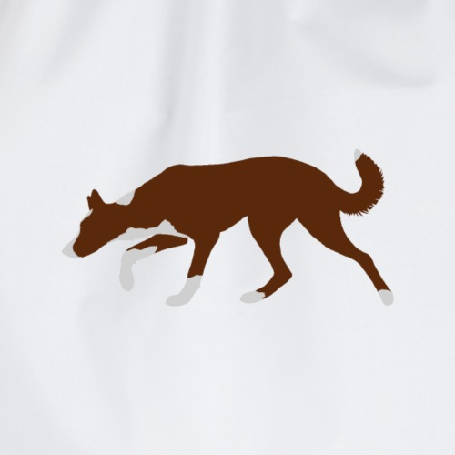 Border Collie (Red and White) - Drawstring Bag
