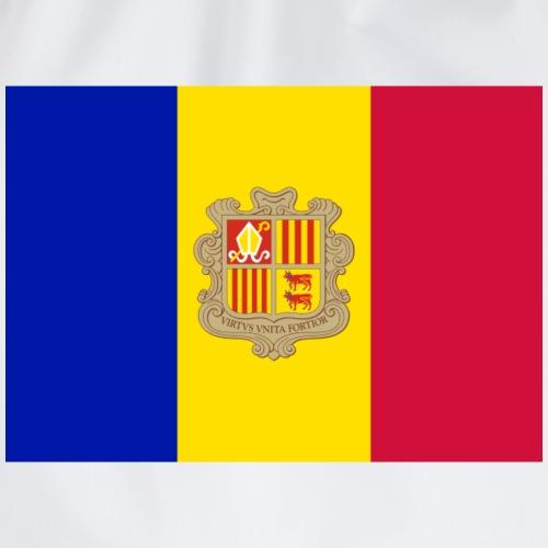 Andorra Flag t-shirt and more products - Drawstring Bag