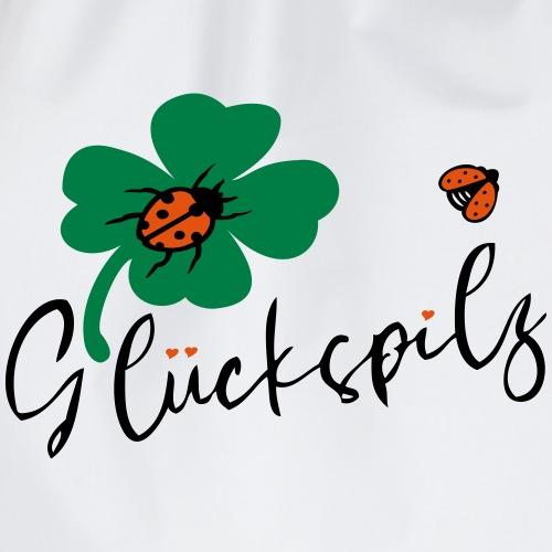 Glückspilz Kleeblatt Glück - Turnbeutel