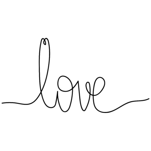 Logo Love au Trait - Sac de sport léger