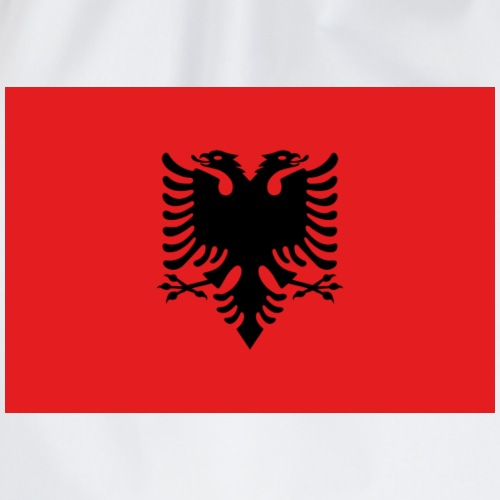 Albania flag t-shirt printed - Drawstring Bag