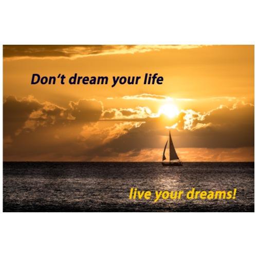 Sonnenuntergang Lebe deinen Traum Foto