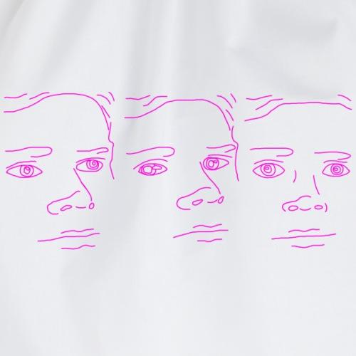 White Guy Blinking Memes - Drawstring Bag