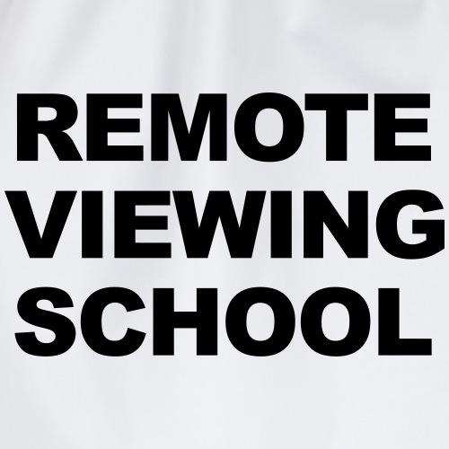 Remote Viewing School Zentriert - Turnbeutel