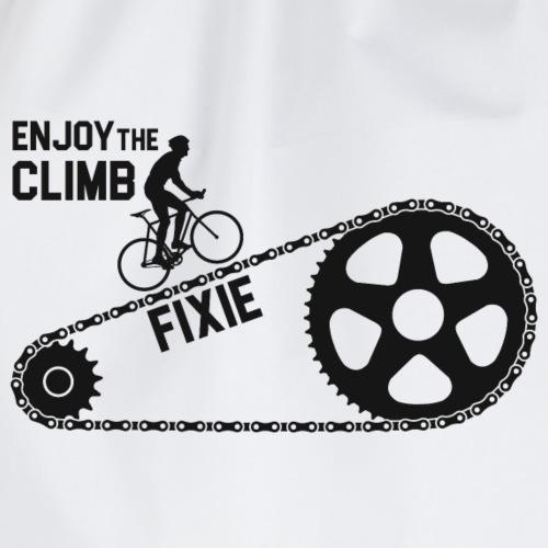 Fixie Enjoy The Climb Cycling T-Shirt - Drawstring Bag