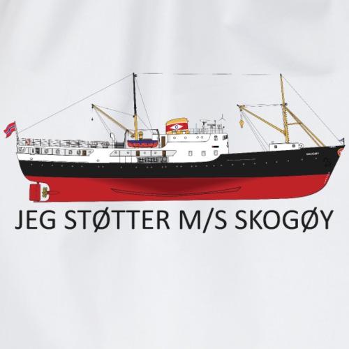 Jeg støtter M/S Skogøy - Gymbag