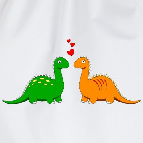verliebt Dinosaurier Love Herz Brontosaurus Urzeit - Drawstring Bag