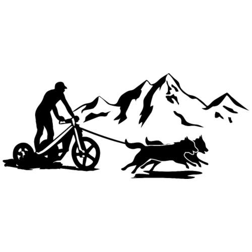 Gespann Trike Berge Aufdruck schwarz - Turnbeutel