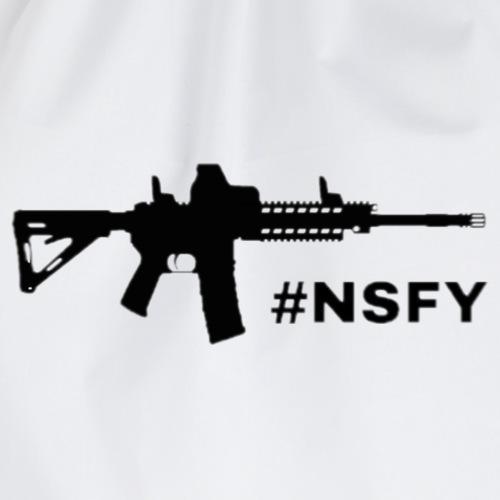 Black Rifle #NSFY - Drawstring Bag