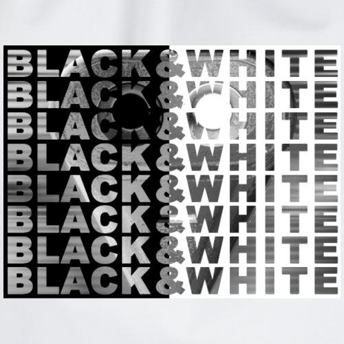 Black and White con fondo robot - Mochila saco