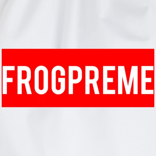 Frogpreme logo - Drawstring Bag
