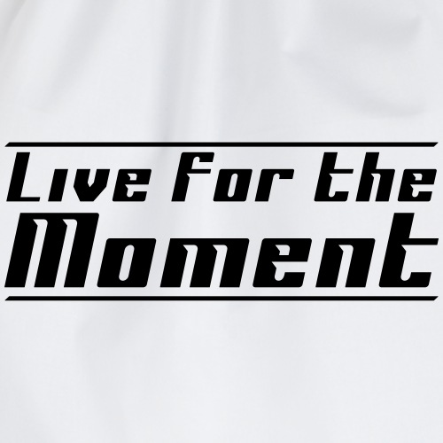 LivefortheMoment fron - Turnbeutel