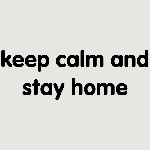 Corona keep calm and stay home - Turnbeutel