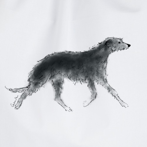 Deerhound in Aquarell - Turnbeutel