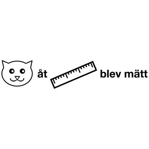 Katt åt linjal - Gymnastikpåse