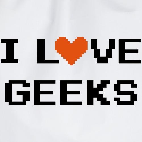 I Love Geeks - Drawstring Bag