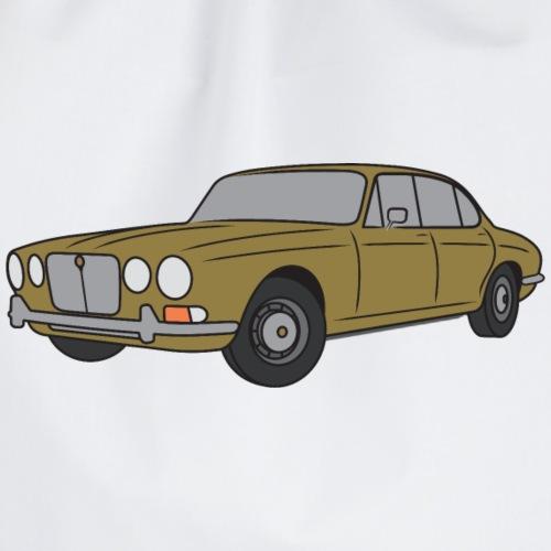 70s Jaguar XJ Greensand - Simple - Drawstring Bag