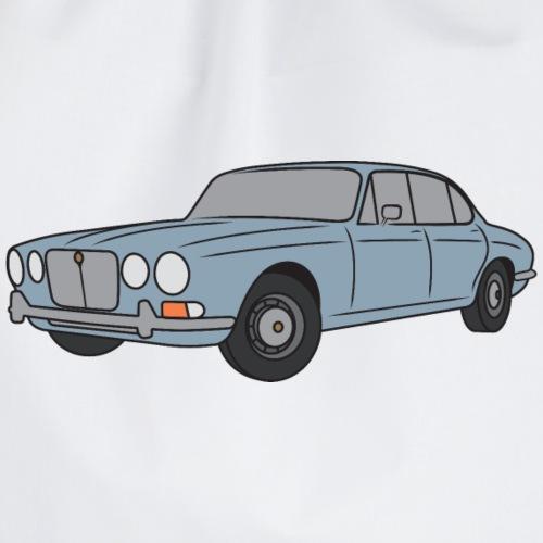 70s Jaguar XJ Silver Grey - Simple - Drawstring Bag