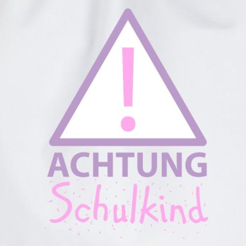 Achtung Schulkind Mächen - Turnbeutel