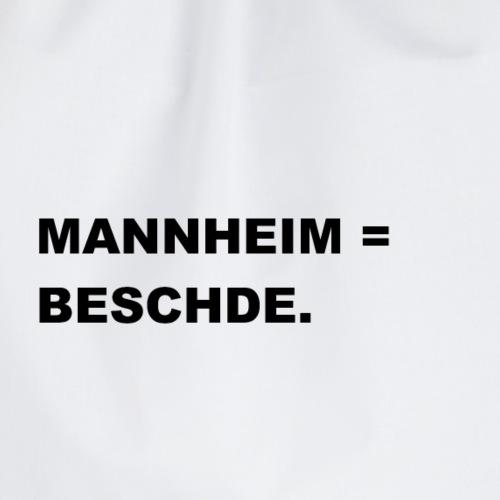 MANNHEIM = BESCHDE. - Turnbeutel