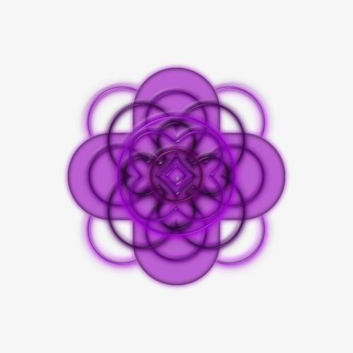 Mandala violett - Turnbeutel