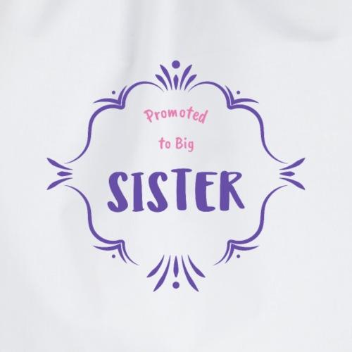 Größe Schwester Shirt Tees Geschenk - Turnbeutel