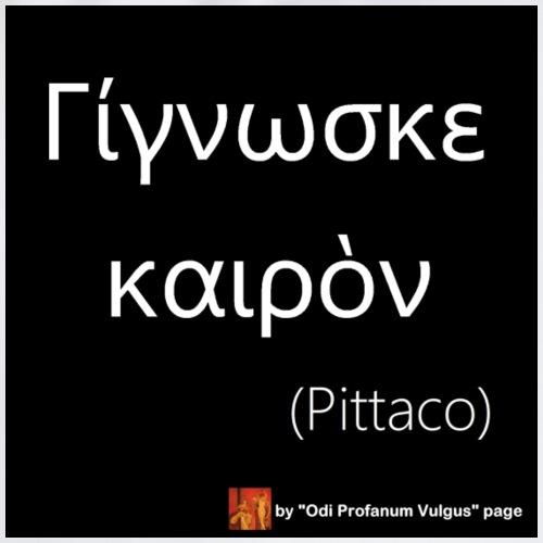 Citazione Pittaco - solo greco - Sacca sportiva