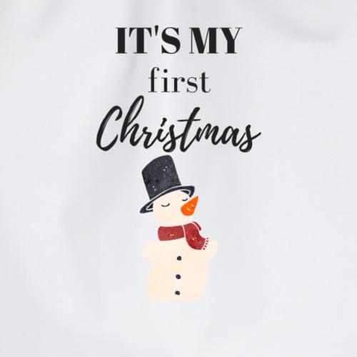 It`s my first Christmas Schneemann - Turnbeutel