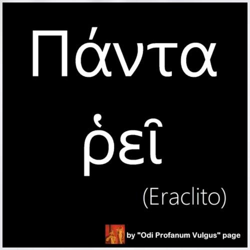 Citazione Eraclito solo greco - Sacca sportiva