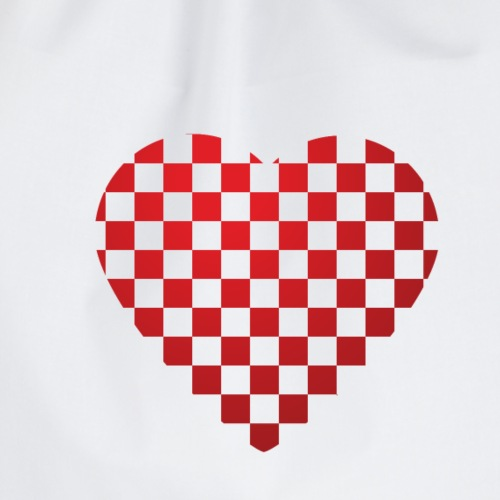 From Croatia with Love - Croatian flag heart white