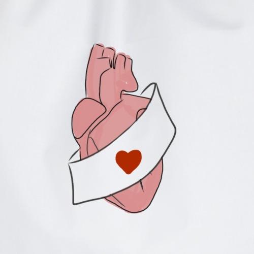 I love heart - Mochila saco