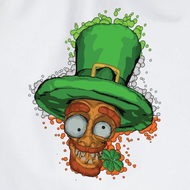 Leprechaun with shamrock